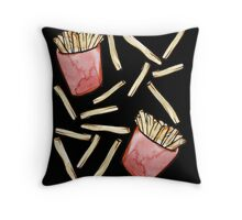 French Fries are awesome  Throw Pillow