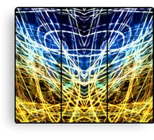 Light Painting Abstract Triptych #1 Canvas Print