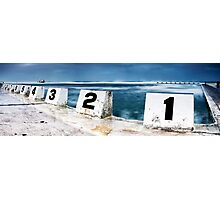 Merewether Baths - Front Blocks Photographic Print