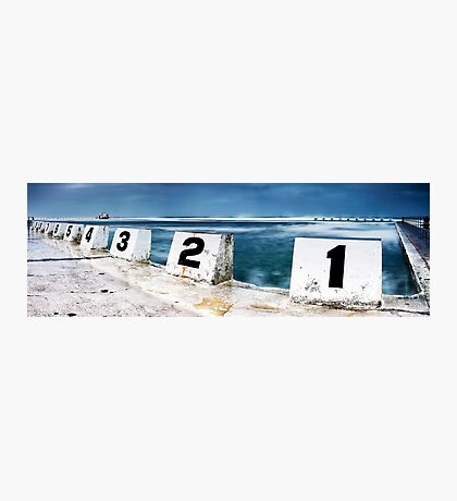 Merewether Baths - Front Blocks Photographic Print