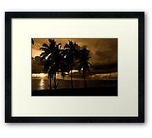 Fiji Sunset Framed Print
