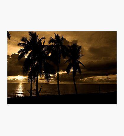 Fiji Sunset Photographic Print