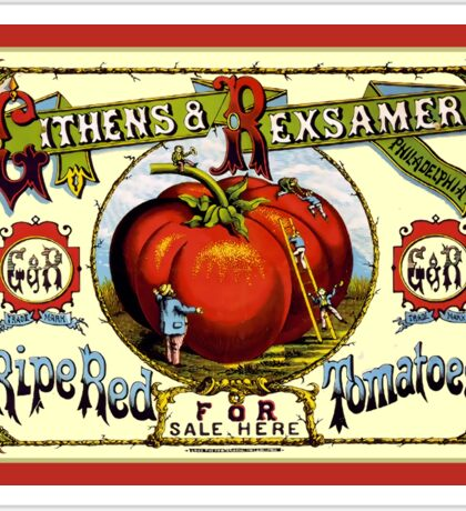 Ripe Red Tomatoes Vintage Advertisement Sticker