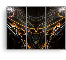 Light Painting Abstract Triptych #2 Canvas Print
