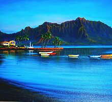 Morning Stillness, Kaneohe Bay by jyruff