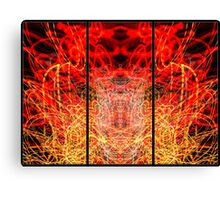 Light Painting Abstract Triptych #3 Canvas Print