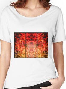 Light Painting Abstract Triptych #3 Women's Relaxed Fit T-Shirt