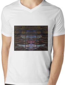 Light Painting Abstract Triptych #4 Mens V-Neck T-Shirt