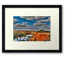 Headings Lookout - Renmark - HDR Framed Print