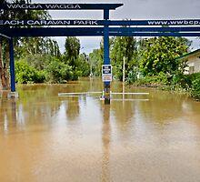 When the 'beach' comes to town - Murrumbidgee Floods by bazcelt