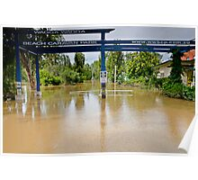 When the 'beach' comes to town - Murrumbidgee Floods Poster