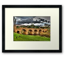 Richmond Bridge - Tasmania - HDR Framed Print