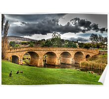 Richmond Bridge - Tasmania - HDR Poster