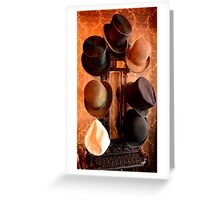 Hat Stand from Monty Cristo. Greeting Card