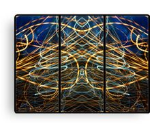 Light Painting Abstract Triptych #6 Canvas Print