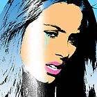 pop art girl (blue) by aligee