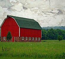 a red barn by Lynne Prestebak