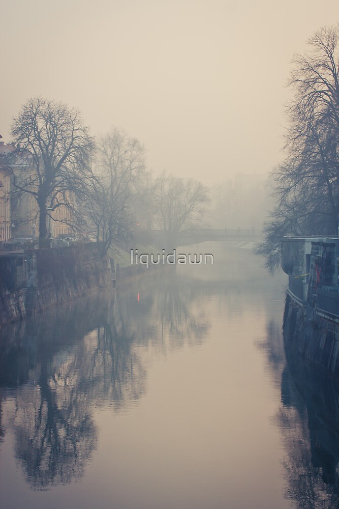 Ljubljana in the fog by liquidawn