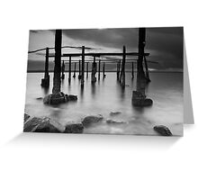 Sunset at Ippikos Omilos (B&W) Greeting Card