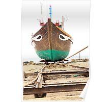 Boat, Fishing, Repair, Dockland Poster