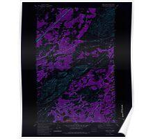 USGS Topo Map Washington State WA Lance Hills 241942 1980 24000 Inverted Poster