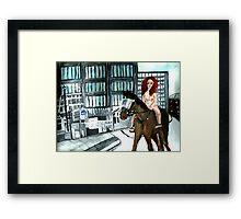 Lady Wade-iva Framed Print
