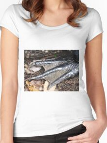Gator Foot Women's Fitted Scoop T-Shirt