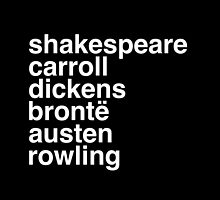 British Writers by thebookstheppl