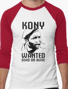 KONY, Wanted Dead or Alive Men's Baseball ¾ T-Shirt