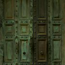 Weathered Green Doors by Andy Merrett
