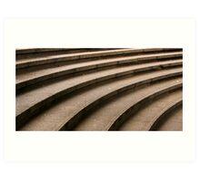 Curved Stone Steps Art Print