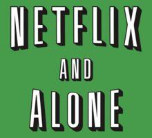 Netflix And Alone T-Shirt One Piece - Short Sleeve