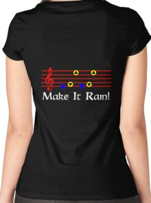 Make It Rain - Song Of Storms Women's Fitted Scoop T-Shirt