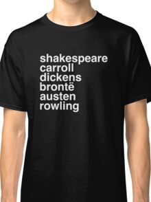 British Writers Classic T-Shirt