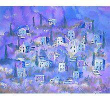 Village on a hillside Photographic Print