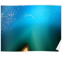 blue ocean rock Poster