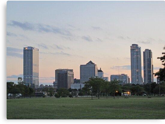 Daylight Milwaukee Skyline by Thomas Murphy