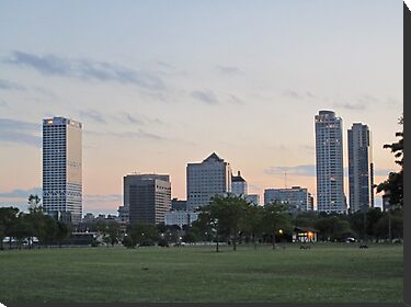Daylight Milwaukee Skyline by Thomas Murphy