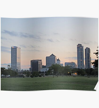 Daylight Milwaukee Skyline Poster