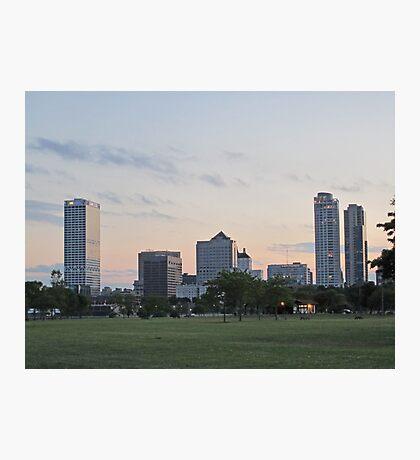 Daylight Milwaukee Skyline Photographic Print