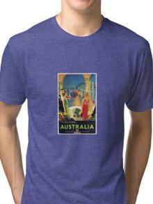 Australia Vintage Travel Advertisement Tri-blend T-Shirt