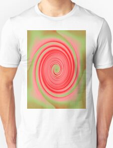 Red and Green Spiral T-Shirt