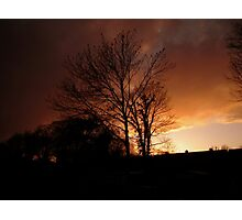Evening Fire Sunset Photographic Print