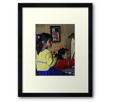 Mother And Child - Madre Y Niña Framed Print