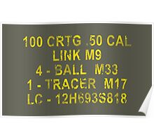 50 Cal Ammo Can Poster