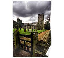 St Margaret, Starston, Norfolk, England. Poster