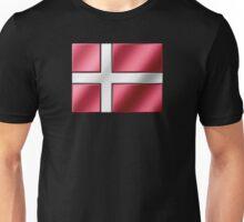 Danish Flag - Denmark - Metallic Unisex T-Shirt