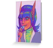 Neon Greeting Card
