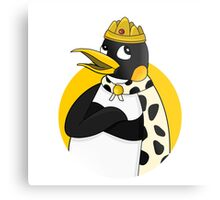 Cute emperor penguin cartoon Metal Print