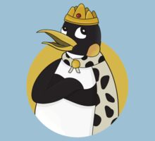 Cute emperor penguin cartoon One Piece - Short Sleeve